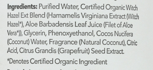 Witch Hazel Alcohol-Free Water  Coconut 12 Fluid Ounce 355 Milliliter