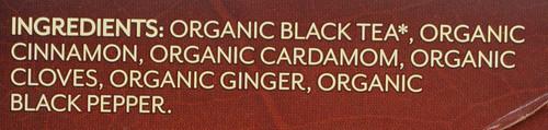 Organic Black Tea Chai Organic 20 Each 1.41 Ounce