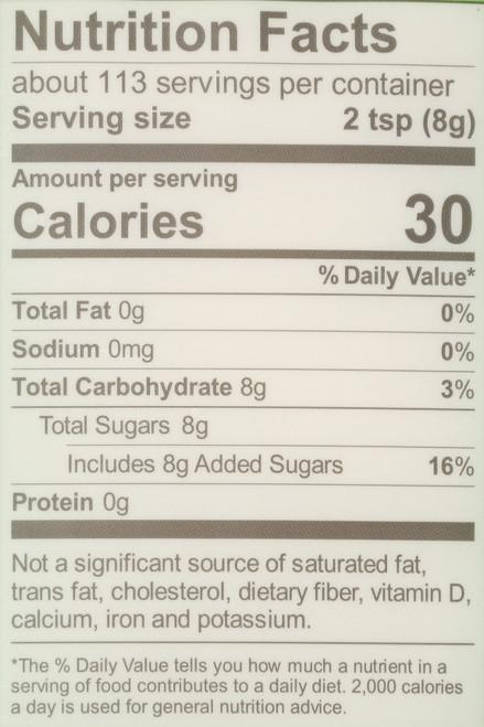 Organic Cane Sugar Evaporated Cane Juice 2 Pound 32 Ounce
