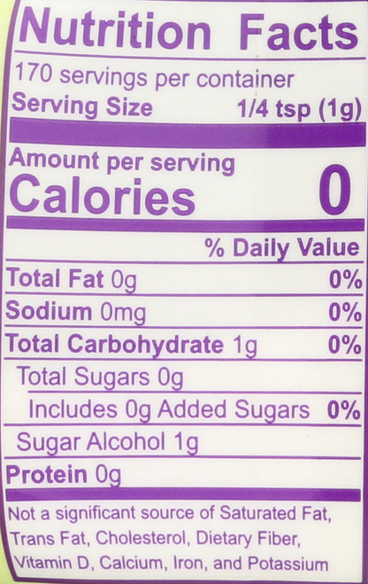 Organic Stevia Zero Calorie Sweetener Blend 6 Ounce 170 Gram