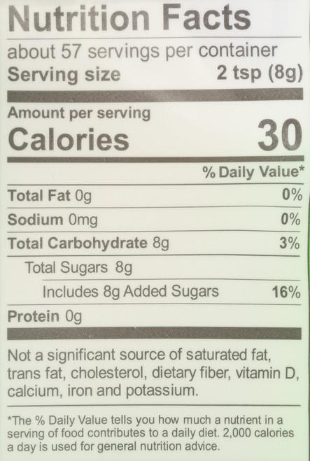 Organic Cane Sugar Evaporated Cane Juice 1 Pound 16 Ounce