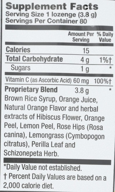 Herbalozenge Orange C 80 Drops  80 Count