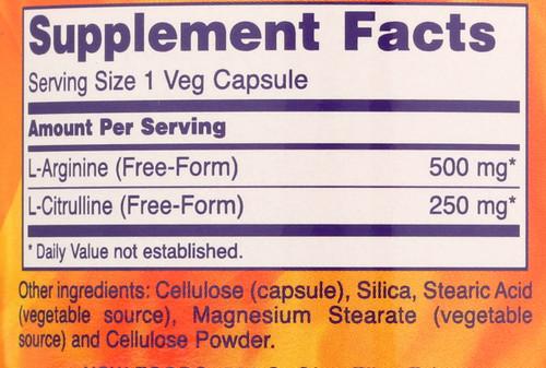 Arginine & Citrulline 500/250mg - 120 Capsules