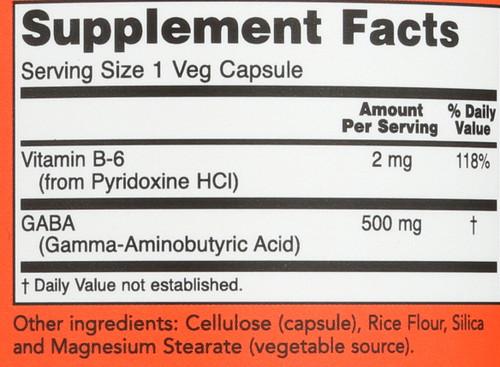 GABA 500 mg - 200 Capsules