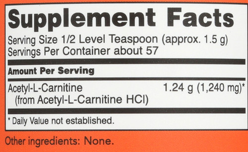 Acetyl-L-Carnitine Powder - 3 oz.