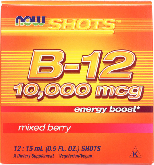 B-12 10,000 mcg - 12: 15 mL (0.5 fl. oz.) Shots