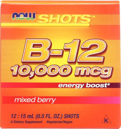 B-12 10,000 mcg - 12: 15 mL (0.5 fl. oz.) Shots