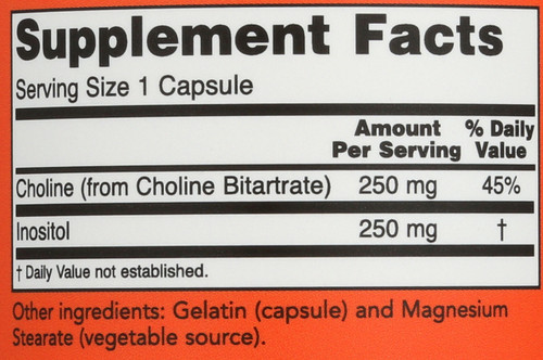 Choline & Inositol 500 mg - 100 Capsules