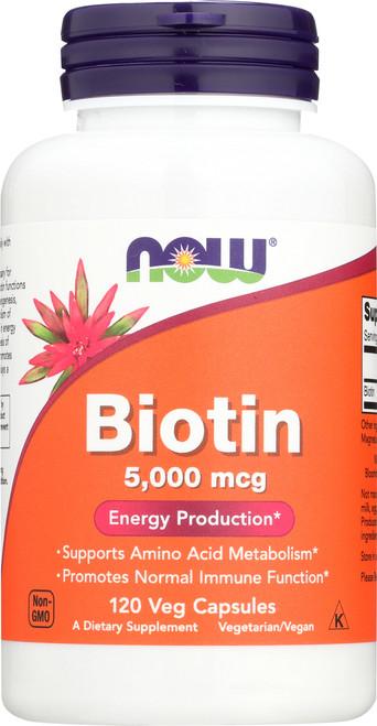 Biotin 5000 mcg - 120 Vcaps