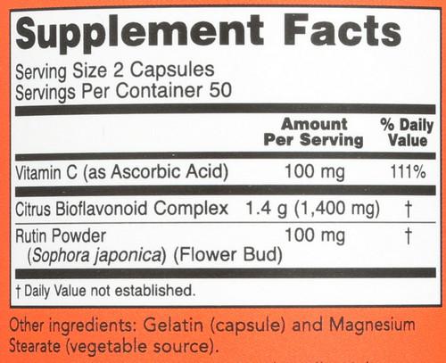Citrus Bioflavonoids 700mg - 100 Capsules