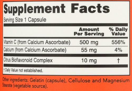 C-500 Calcium Ascorbate - 250 Capsules