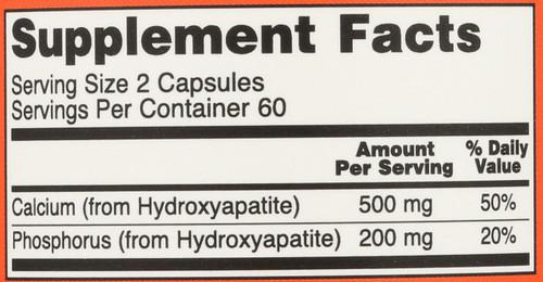 Calcium Hydroxyapatite - 120 Capsules