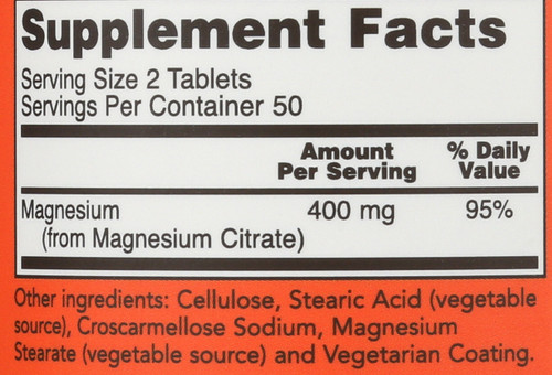 Magnesium Citrate 200 mg - 100 Tablets