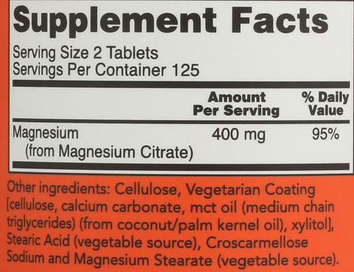 Magnesium Citrate 200 mg - 250 Tablets