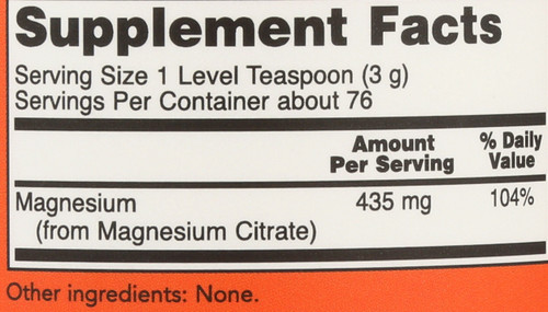 Magnesium Citrate Pure Powder - 8 oz