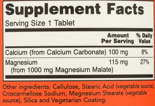 Magnesium Malate 1000 mg Vegetarian - 180 Tablets