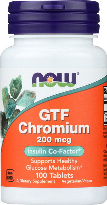 GTF Chromium 200 mcg Yeast Free - 100 Tablets