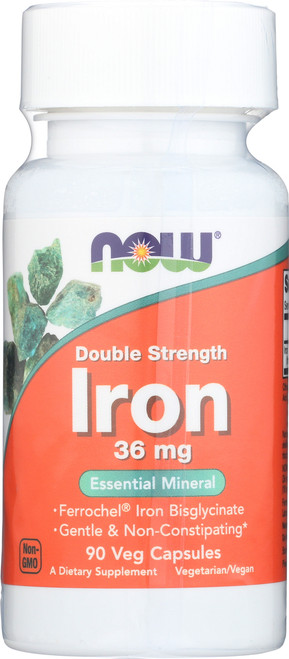 Iron 36 mg Double Strength - 90 Veg Capsules