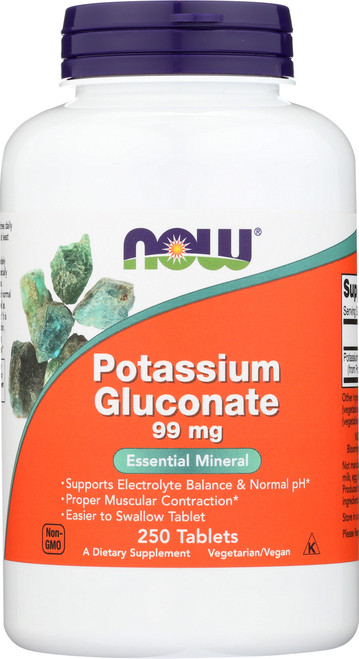Potassium Gluconate 99 mg Vegetarian - 250 Tablets