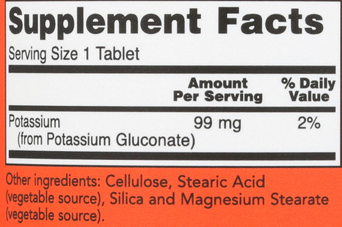 Potassium Gluconate 99 mg Vegetarian - 250 Tablets