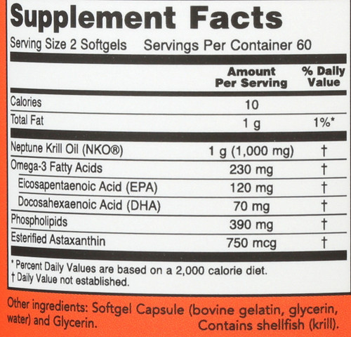 Neptune Krill Oil - 120 Softgels