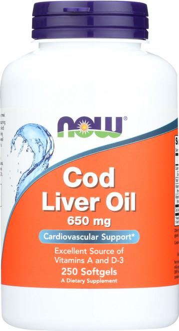 Cod Liver Oil 650 mg - 250 Softgels