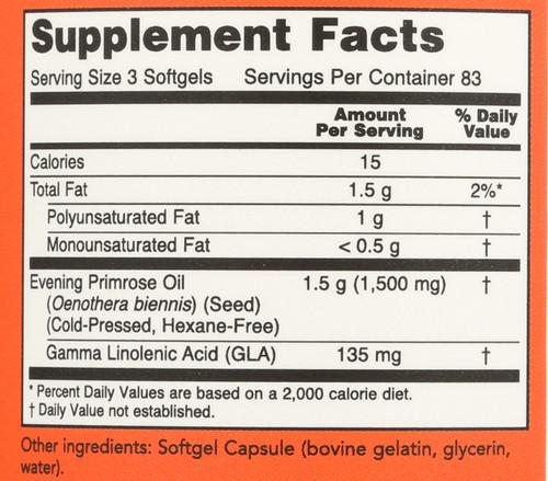 Evening Primrose Oil 500 mg - 250 Softgels