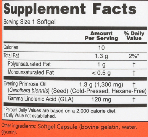 Super Primrose 1300 mg - 120 Softgels