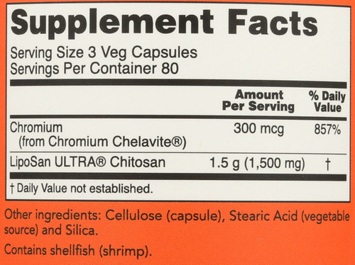 Chitosan 500 mg with Chromium - 240 Capsules