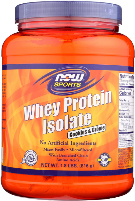 Whey Protein Isolate - Cookies & Creme - 1.8 lbs.