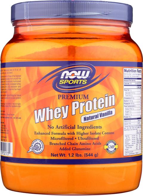 Premium Whey Protein (Vanilla) - 1.2 lb.
