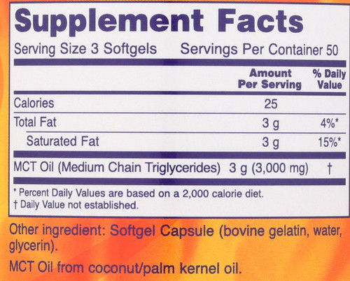 MCT Oil 1000 mg - 150 Softgels