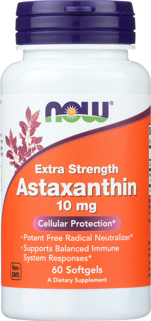 Astaxanthin Extra Strength 10 mg - 60 Softgels