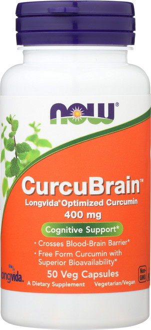 CurcuBrain™ 400 mg - 50 Veg Capsules