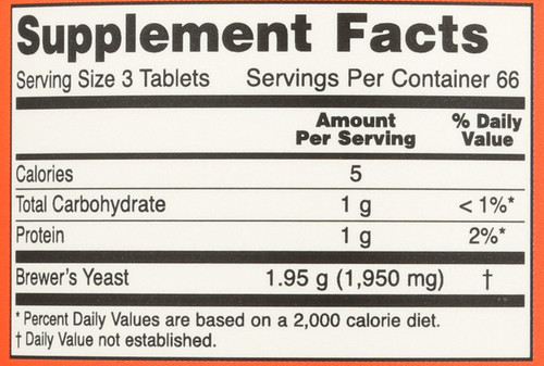 Brewer's Yeast 650 mg - 200 Tablets