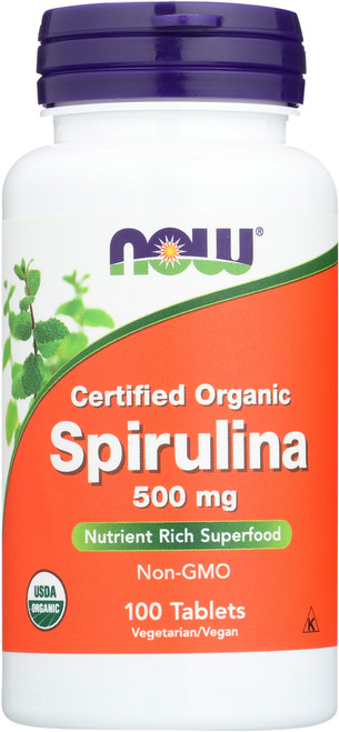 Spirulina 500 mg (Certified Organic) - 100 Tablets