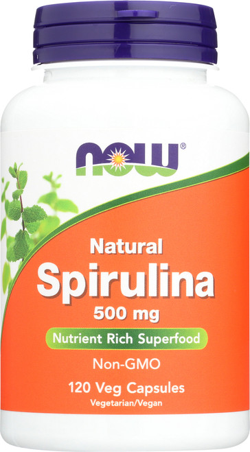 Natural Spirulina 500 mg - 120 Veg Capsules