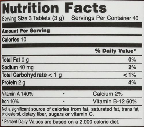Spirulina 1,000 mg Organic - 120 Tablets
