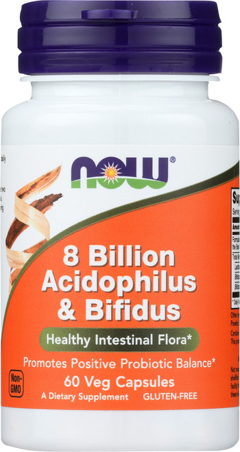 8 Billion Acidophilus and Bifidus - 60 Veg Capsules