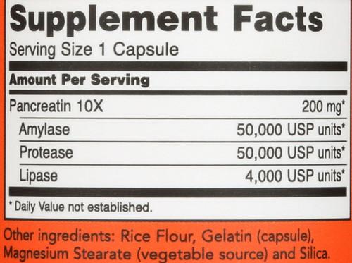 Pancreatin 10X 200 mg - 100 Capsules