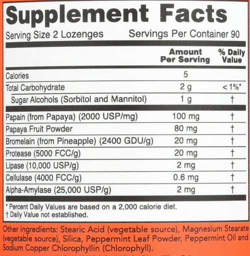Papaya Enzyme - 180 Lozenges
