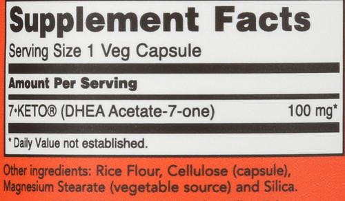 7-Keto® 100 mg - 60 Veg Capsules