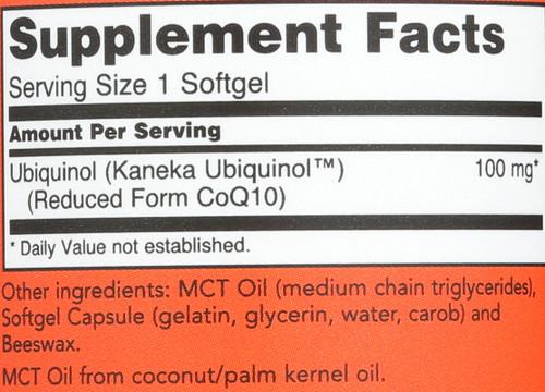 Ubiquinol 100 mg - 60 Softgels