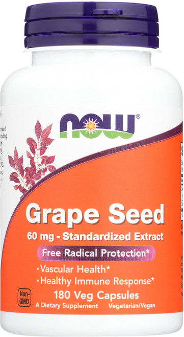 Grape Seed 60 mg - 180 Veg Capsules