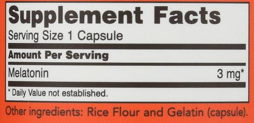 Melatonin 3 mg - 180 Capsules