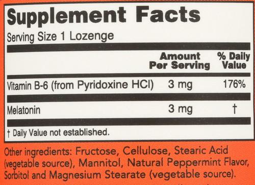 Melatonin 3 mg Chewable - 90 Lozenges