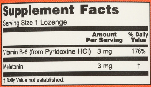 Melatonin 3 mg Chewable - 180 Lozenges