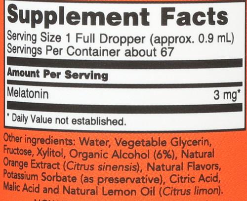 Liquid Melatonin 3 mg - 2 oz.