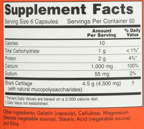 Shark Cartilage 750 mg - 300 Capsules