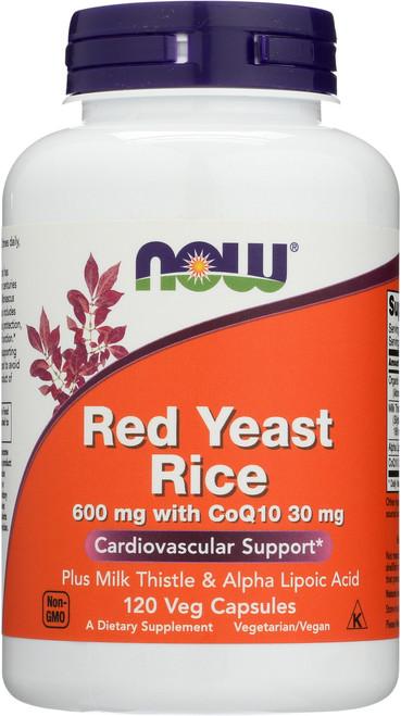 Red Yeast Rice 600 mg with CoQ10 30 mg - 120 Veg Capsules